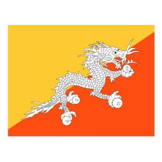 Nationale Vlag van Bhutan Briefkaart