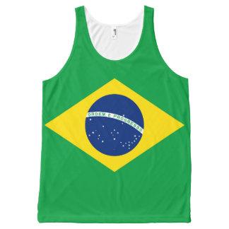 Nationale Vlag van Brazilië, nauwkeurige All-Over-Print Tank Top