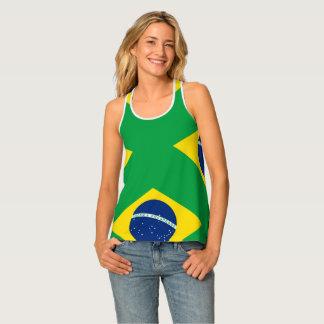 Nationale Vlag van Brazilië, nauwkeurige Tanktop