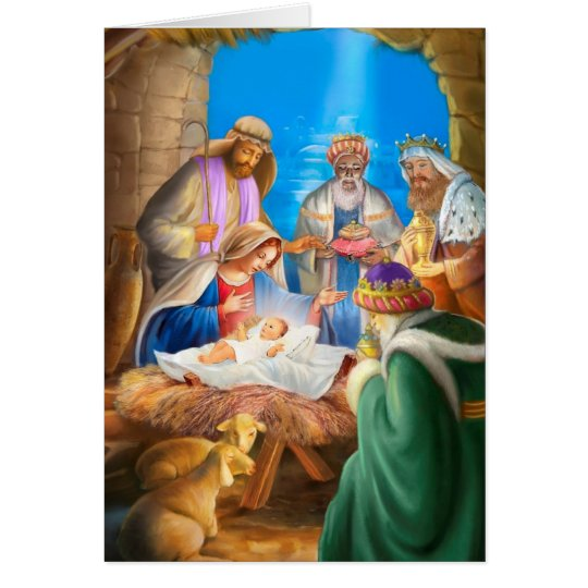 Nativity of Jesus x-mas image for christmas cards Briefkaarten 0