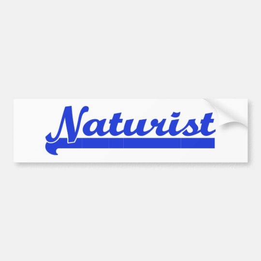 Naturist bumpersticker