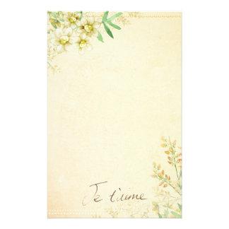 Natuurlijk Bloemen Stationair Document Briefpapier