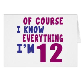 Natuurlijk ken ik Alles ik 12 ben Kaart