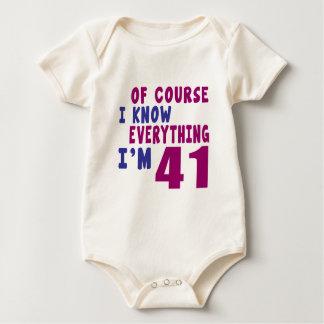 Natuurlijk ken ik Alles ik 41 ben Baby Shirt