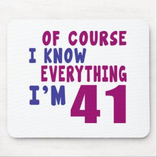 Natuurlijk ken ik Alles ik 41 ben Muismat