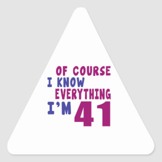 Natuurlijk ken ik Alles ik 41 ben Sticker
