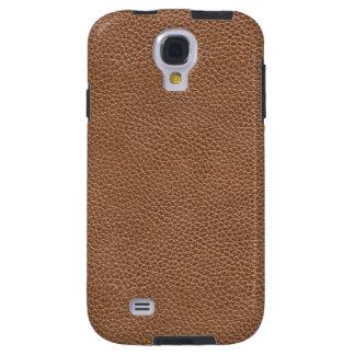 Natuurlijke Bruin van het Leer van Faux Galaxy S4 Hoesje