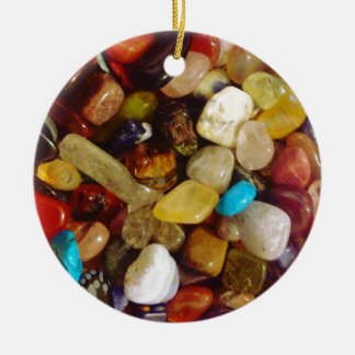 Natuurlijke Halfedelstenen Rond Keramisch Ornament