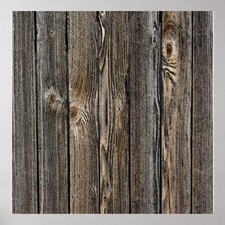 Natuurlijke houten textuur als achtergrond poster