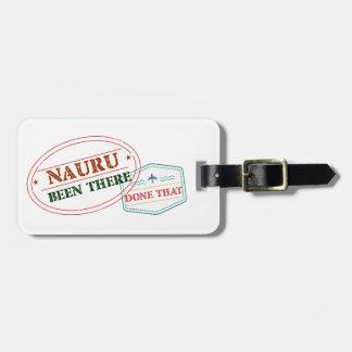 Nauru daar Gedaan dat Kofferlabel