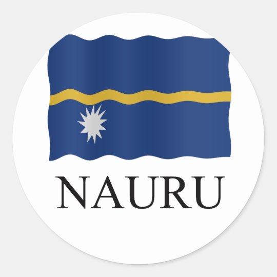 Nauru flag ronde sticker