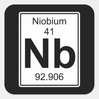 Nb - Niobium Vierkante Sticker