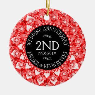 @nd de de Rode Diamanten en Zwarte van het Rond Keramisch Ornament