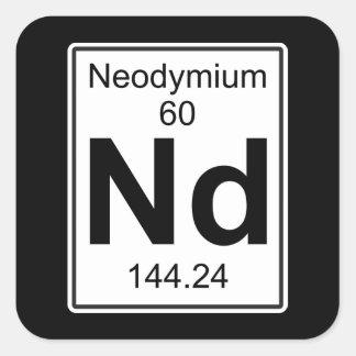 Nd - Neodymium Vierkante Sticker