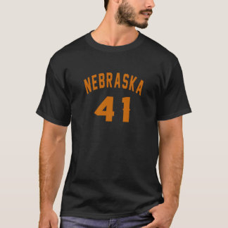 Nebraska 41 Design van de Verjaardag T Shirt