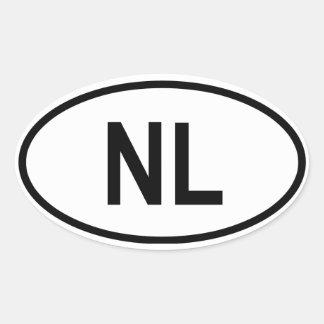 "Nederland ""NL "" Ovaalvormige Stickers"