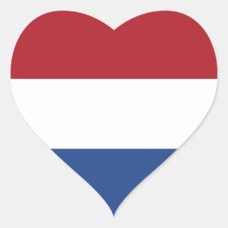 Nederland Hartvormige Sticker