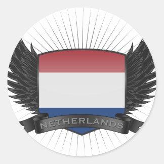 NEDERLAND RONDE STICKERS