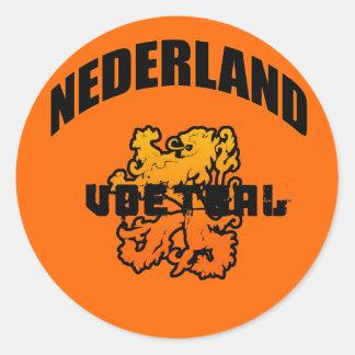 Nederland Voetbal 2010 Giften Ronde Stickers
