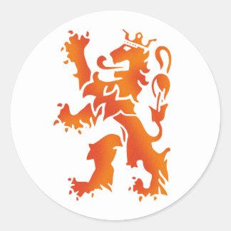 Nederland wereldkampioen de leeuw van 2014 ronde sticker