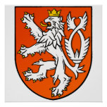 Nederlands de leeuwSchild van Nederland van het le Afdruk