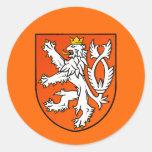 Nederlands de leeuwSchild van Nederland van het Ronde Sticker