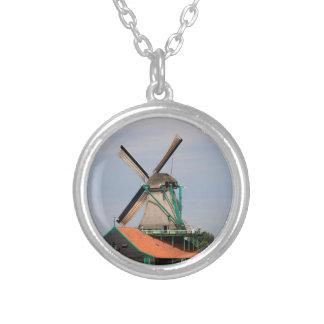 Nederlands windmolendorp, Holland 3 Zilver Vergulden Ketting