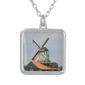 Nederlands windmolendorp, Holland 3 Zilver Vergulden Ketting