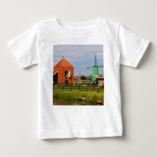 Nederlands windmolendorp, Holland 4 Baby T Shirts