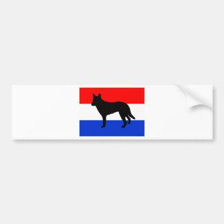Nederlandse herder Nederland-flag.png Bumpersticker