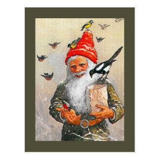Nederlandse Kabouter die de Vogels voert Briefkaart
