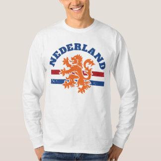 Nederlandse Leeuw en Vlag van Nederland T Shirt