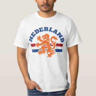 Nederlandse Leeuw met de Vlag van Nederland T Shirt