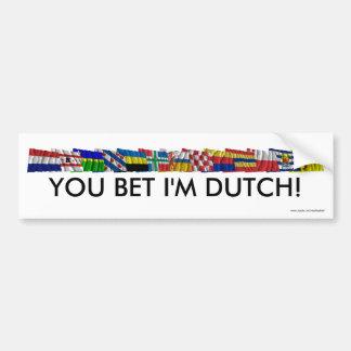 Nederlandse Nationale en Provinciale Vlaggen Bumpersticker