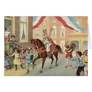 Nederlandse St. van Sinterklaas Inkeping Vintage Kaart
