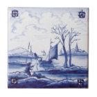 Nederlandse traditionele blauwe tegel keramisch tegeltje
