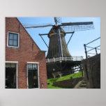Nederlandse Windmolen, het Poster van de Foto van