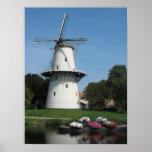 Nederlandse Windmolen in Zeeland, Holland het Post Plaat