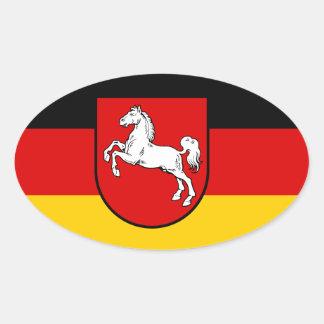 Nedersaksen (Duitsland) Ovale Sticker