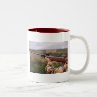 Neem de jacht met u waar u gaat! tweekleurige koffiemok