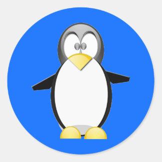 Neem een Penquin op Ronde Sticker