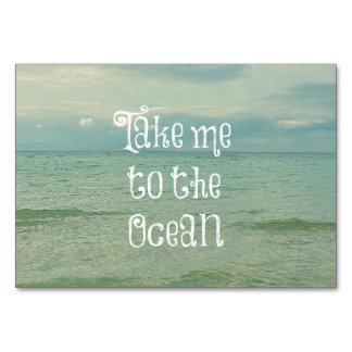 Neem me aan het OceaanCitaat Kaart