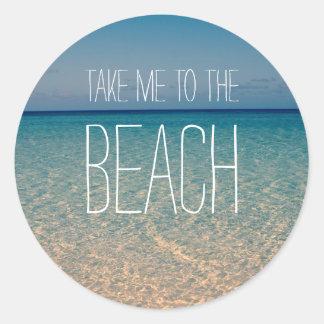 Neem me aan het Zand van de Hemel van de Zomer van Ronde Sticker