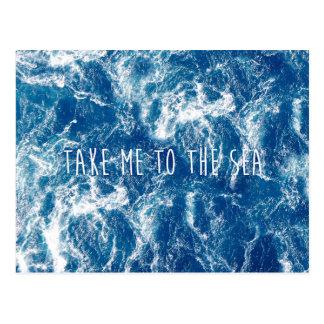 Neem me aan het zee briefkaart