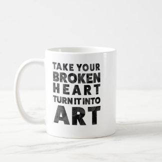 Neem Uw Gebroken Draai van het Hart het in Art. Koffiemok
