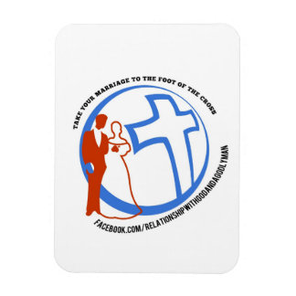 Neem uw huwelijk aan de voet van het kruis flexibele magneten