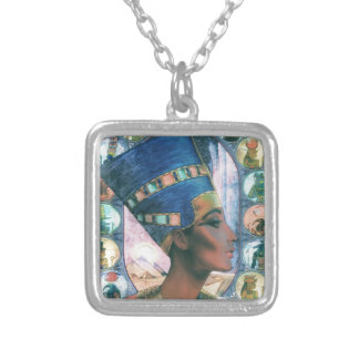 Nefertiti Zilver Vergulden Ketting