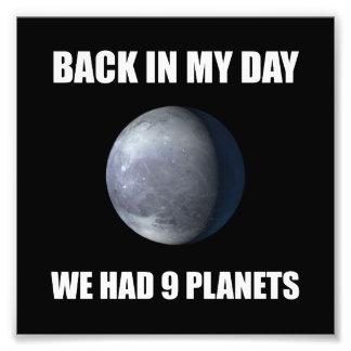 Negen Planeten Foto Afdruk