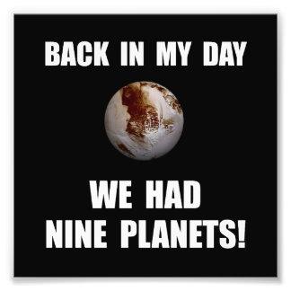 Negen Planeten Fotoafdruk