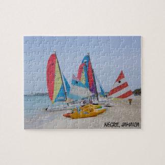 Negril, het Raadsel van het Strand van Jamaïca Foto Puzzels